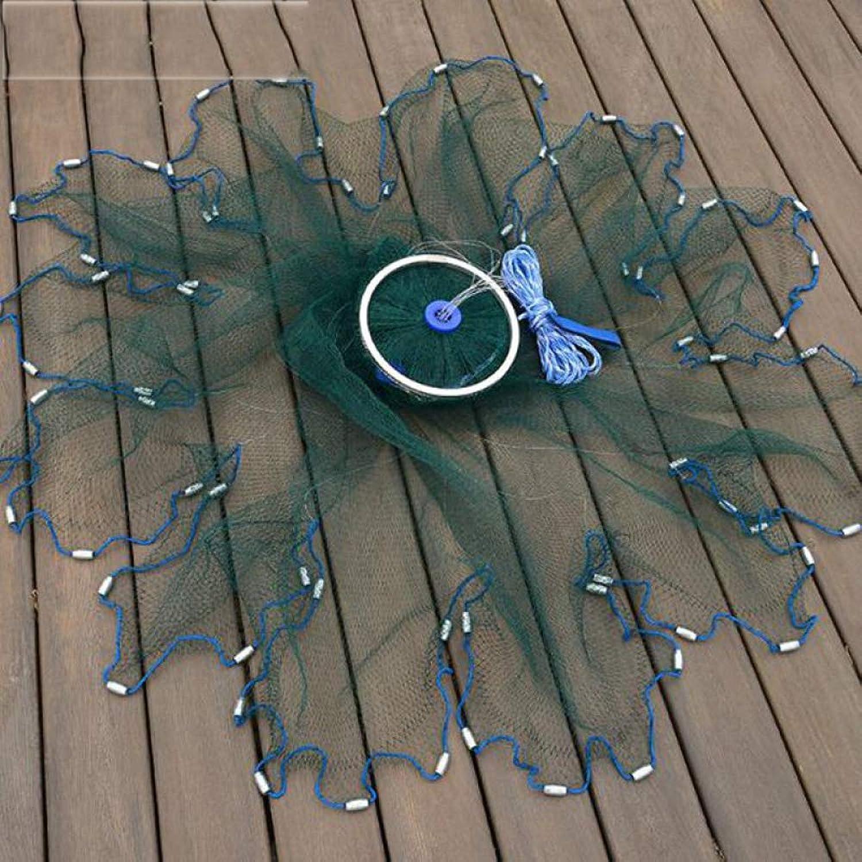 BYDRDYW Multifilament Cast Net mit Ring Braun Strong Catch Fish Network Outdoor Hand werfen Fischernetze Small Mesh Gill Net