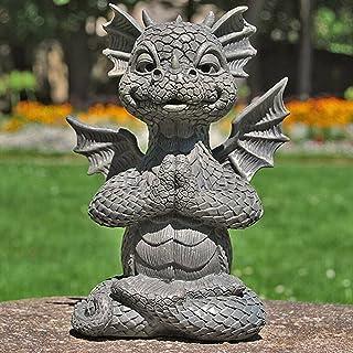 تمثال حديقة فناء جميل على شكل تنين تنين ، تمثال تنين لديكور مع أضواء ، نافذة من الراتنج على شكل تنين,C