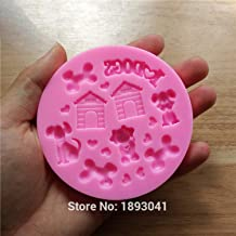 Cake Baking Supplies Dog And House DIY Silicone Molds For Cake Decorating Fondant Cake Mold Chocolate Mould Cake Tools Kitchen SQ16290-