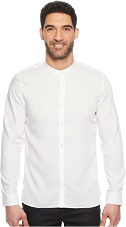 Calvin Klein - Band Collar Dobby Twill Button Down Shirt