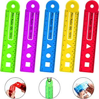 5 Pieces Flexible Ruler 6 Inch Transparent Ruler Colored Plastic Ruler Straight Dual Side Rulers for Home Office Using