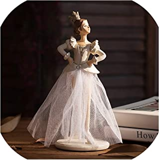 Luuvy-shop Creative Princess Wearing A Crown Ballet Figurines Home Decor Accessories Party Crafts for Living Room Shelves Wedding Ornaments,A