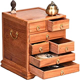 MOMIN Boîtes de Rangement de thé The Wood Feuille Tea Box Organisateur de Stockage pour Collections de thé avec tiroirs Ma...