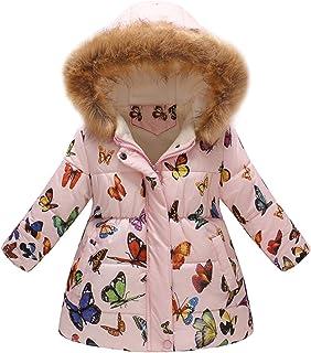 b64b56541b45b Susenstone Unisexe Manteau A Capuche Col Fourrure Long Coat Mignon Mode A  Fleurs Imprimé Hiver Chaud