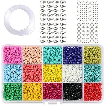 Seed Beads 9000 cuentas de vidrio con una caja organizadora y 1 ...