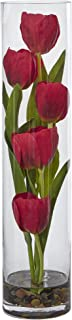 Nearly Natural Tulips Silk Arrangement in 18