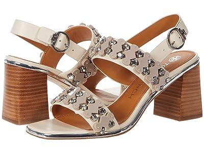 Tory Burch Delaney 75mm Embellished Sandal (New Cream) Women