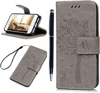 f4cb04c7801 Funda iPhone SE, iPhone 5S Carcasa, Case Libro de Suave Cuero Impresión PU  Premium