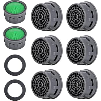 20 Sets Faucet Aerator With Gasket 2 2 Gpm Sink Aerator Faucet Replacement Parts For Bathroom Or Kitchen Amazon Com