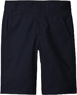 Flat Front Twill Shorts (Big Kids)