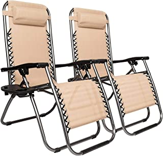 ASDFGH 2pcs Plum Blossom Lock Portable Folding Chairs with Saucer, Outdoor Resting Deck Chair Patio Lounger Chair, Adjustable Chaise Lounges