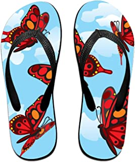 a1fe1a3e3 ROOMY Men s Flip Flops Blue Peacocks Printed Summer Sandals Beach Slippers