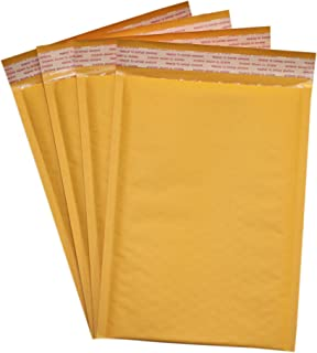 Secure Seal #DVD 7.5x10 Kraft Bubble Mailers Padded Shipping Envelopes (Pack of 10)