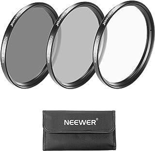 NEEWER 49MMレンズフィルターセット:UVフィルター+CPLフィルター+ND4フィルター+フィルター袋+クリーニングクロス 18-55MM、55-210MM、50MM、16MM、30MMレンズ付きのSony Alpha NEXカメラとCanon EF 50MM f/1.8 STMレンズに対応 【並行輸入品】