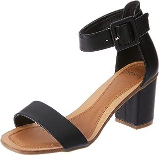 Novo Women's Bloack Heel Strappy Sandals