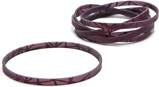 Modern-Twist, Silicone Link Bracelets, Set of 6, Magenta/Aubergine
