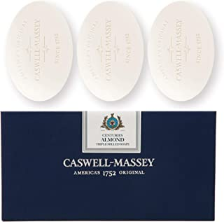 Caswell-Massey Long Lasting Triple Milled Almond Bar Soap - Skin Moisturizing Sweet Almond Oil - Skin Hydrating Soap Bar