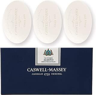 Caswell-Massey Triple Milled Almond Cold Cream Luxury Bath Soap Set