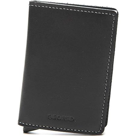 Secrid slim wallet leather black, rfid safe card case