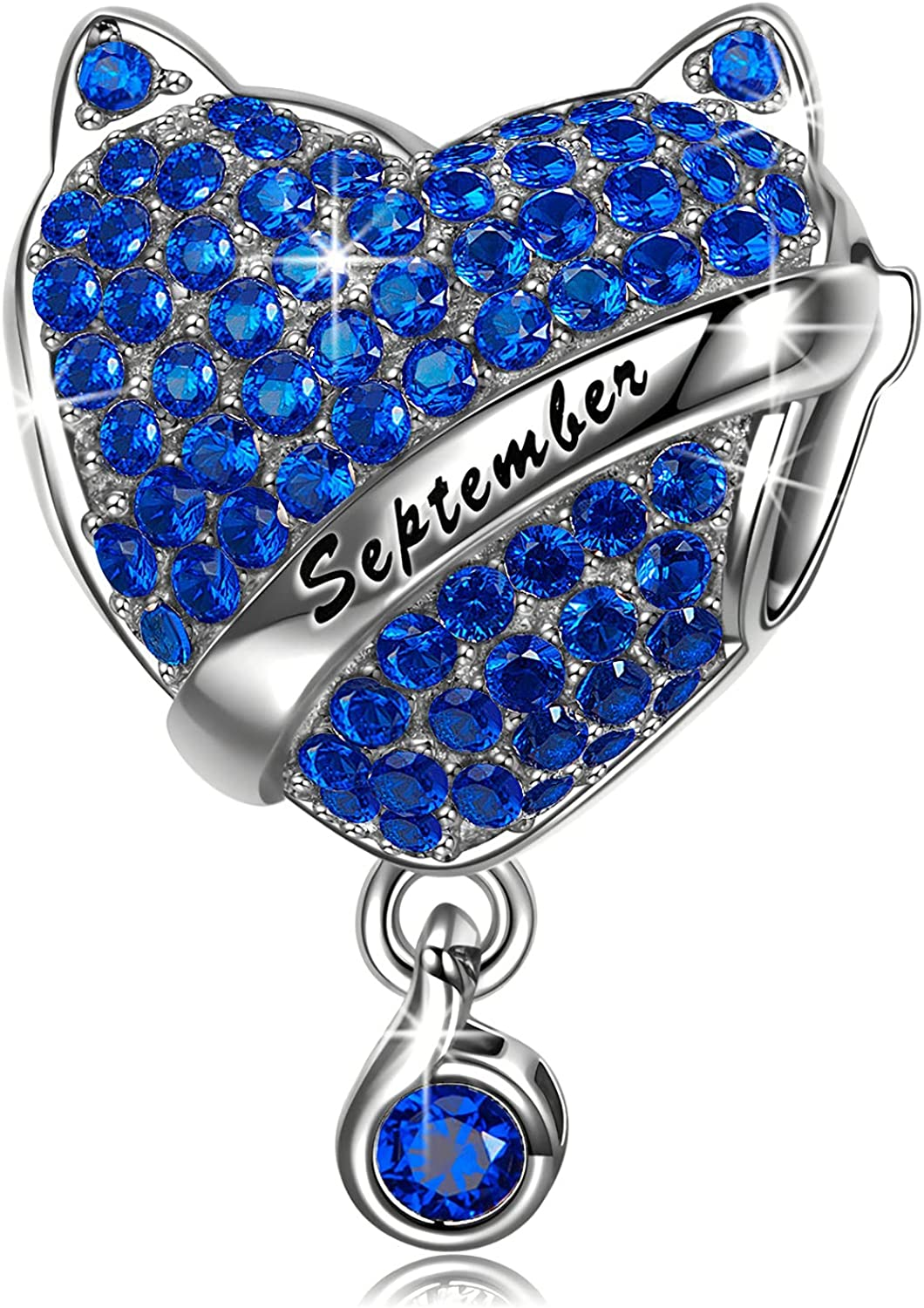 NINAQUEEN Birthstone Charms 925 Sterling Max gift 68% OFF Silver with Beads Made