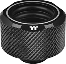 Thermaltake Pacific Black 4 Build-in O-Rings C-ProG1/4 PETG 16mm OD Compression Fitting CL-W214-CU00BL-A