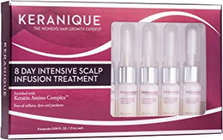 Keranique 8 Day Intensive Scalp Infusion Treatment (8 Ampoules), 1.5 Fl Oz – Keratin Amino Complex | Helps Hair Appear Thicker, Strengthens, Protects, Delivers Anti-Breakage Benefits
