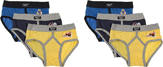 DORA Boys Cotton Cute Lycra Waist Band Y Front Briefs Style-1507 (Pack of 6) Color May Vary