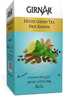 Girnar Detox Green Tea, (36 Teabags)