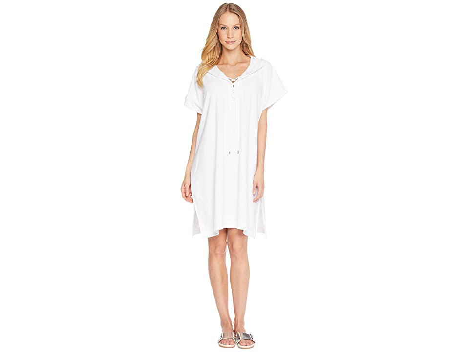 Seafolly Dawn to Dusk Terry Sleeveless Cover-Up (White) Women