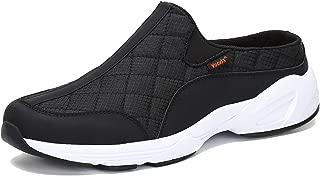 Voovix Men's Women's Mules Non-Slip Casual Slip-On Shoes Water-Resistant Clogs(Black,42)