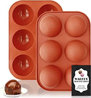 Walfos Moule en silicone à demi-sphère, moules à chocolat en silicone sans BPA – Idéal pour faire du chocolat, des gâteau...