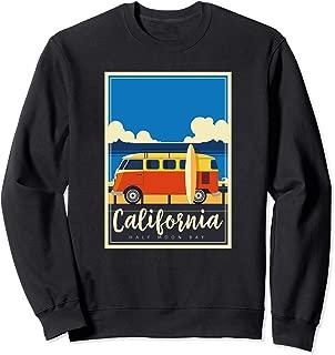 California Surfing Mavericks Half Moon Bay Summer Surf Gift Sweatshirt
