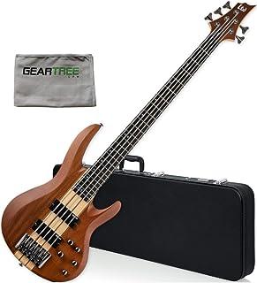 $629 » ESP LTD B-5E NS Natural Satin Electric Bass - Mahogany Body, Ebony Fingerboard w