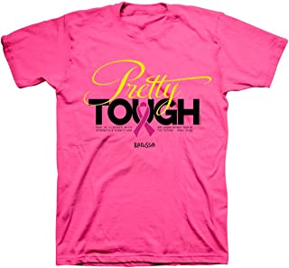 Pretty Tough Breast Cancer Awareness Christian T-Shirt