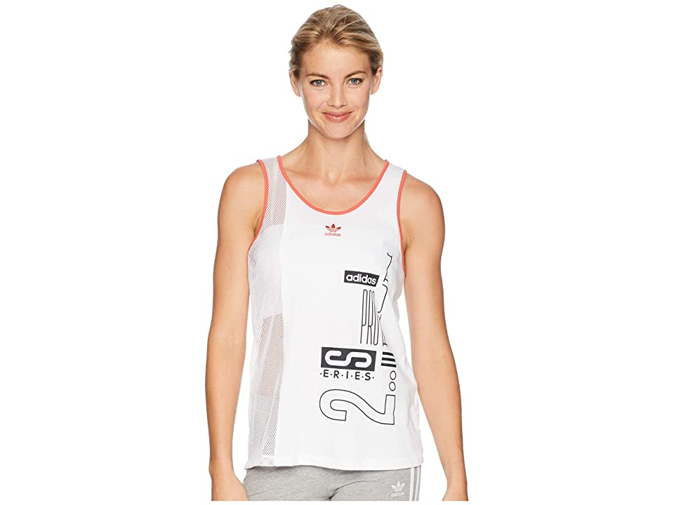 adidas Originals Active Icons Tank Top (White) Women