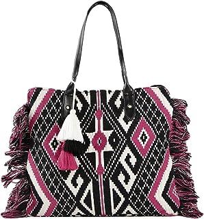 ALII AND ALIIZEY Women's Tote Bag (AJ_5831_PNK_BLK_WHT_TB_Multicolored)