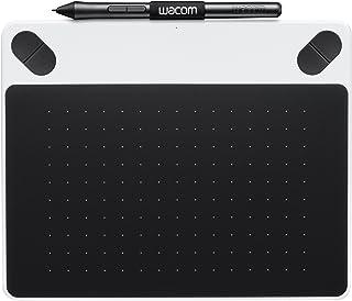 Wacom Intuos Draw - Tableta gráfica, lápiz Intuos Pen, 2540 lpp, 133 pps, ArtRage Lite, USB, color blanco y negro