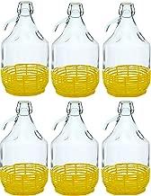 SET DI 6 vetro palloncino g/ärballon vetro vino vetro palloncino bottiglia 5L BDO5Z