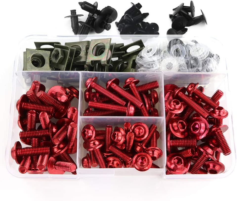 Xitomer Universal Fairing Bolt Kits Fasteners R6 Max 74% OFF Superior Fit for Y YZF
