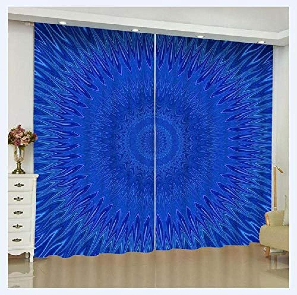Max 81% OFF Bedroom Max 57% OFF Blackout Curtains Panels for Blue Solid Mandala