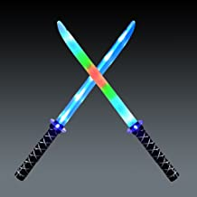 JOYIN 2 Deluxe Ninja LED Light Up Swords with Motion Activated Clanging Sounds ñ Bright..
