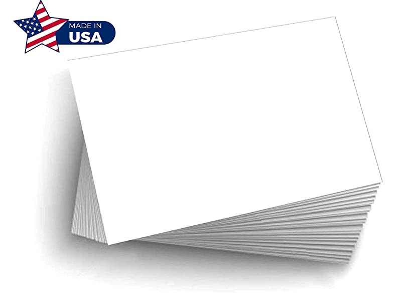 100 Blank Index Flash Note & Post Cards - Greeting Invitations Stationary 5 X 7
