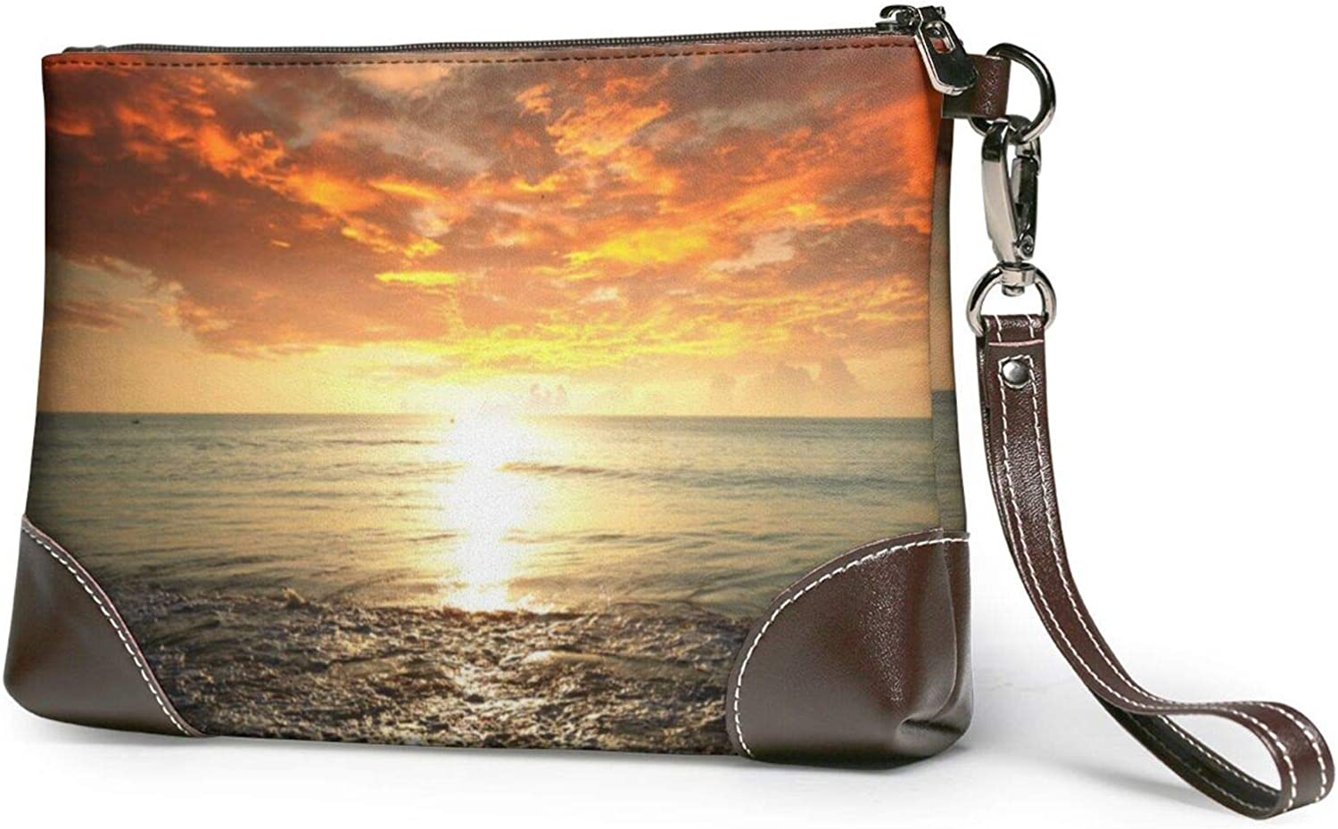 Sunset Ocean Chicago Mall Beach Clutch Wallet Leather Wristlet Purses Limited Special Price