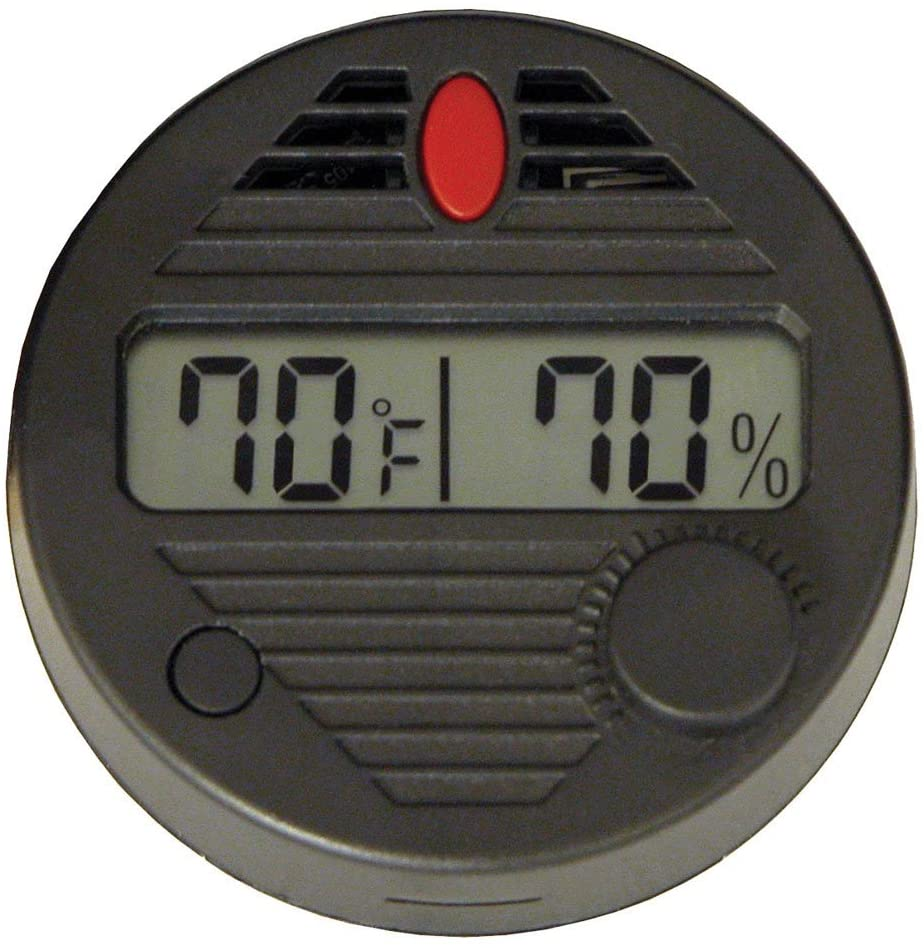HygroSet Manufacturer regenerated product II Round Digital Hygrometer Indianapolis Mall Humidors 10-Second for Ref