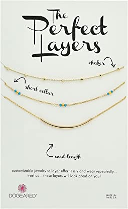 Dogeared - Perfect Layers Set of 3 w/ Turquoise Collar Necklace