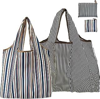 エコバッグ 折りたたみ 超コンパクト コンビニ 買い物袋 大きい 【2枚セット】かわいい 大容量 洗える 軽量 防水