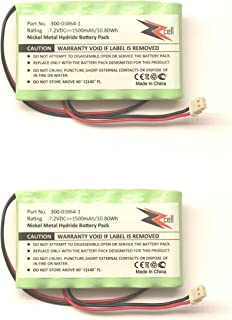 2-Pack ZZcell Battery for Honeywell Alarm 300-03864-1, Lynx L3000, Lynx L5000, Lynx L5100, ADEMCO 300-03865, 1500mAh (Note: Please Check Part Number Before Purchase - Battery Connector - 2 Prong)