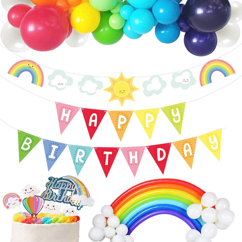 wongmode Big Sunshine Rainbow Clouds Ranking TOP10 Decoration C store Birthday Happy