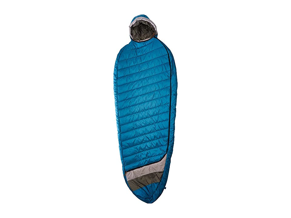 Kelty Tuck 40 Degree Thermapro Ultra Long Left Handed Zippers (Lyons Blue/Smoke) Outdoor Sports Equipment