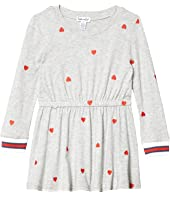 Schiffli Heart Dress (Big Kids)